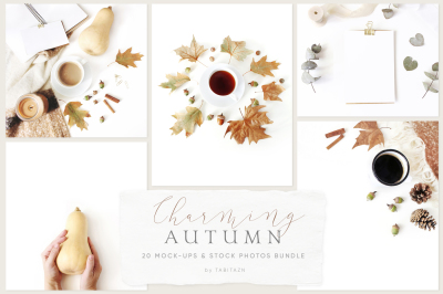 20 Charming autumn mockups & stock photo bundle