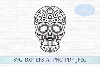 Sugar skull SVG, Halloween SVG, Day of the dead SVG, Candy skull SVG