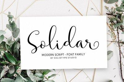 Solidar - Script Font Family
