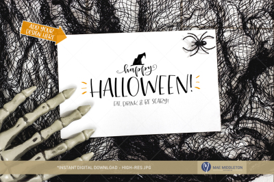 Halloween Card / Invitation / Paper Mockup