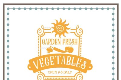 Fresh Vegetables SVG Cut File - Home Vector