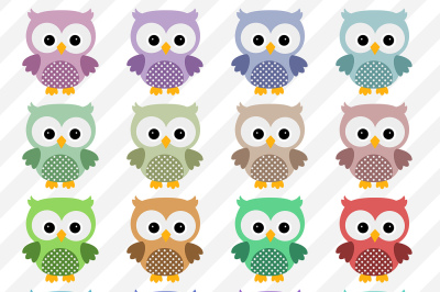 Owl Clipart, Cute Owls, Colorful Owl Images