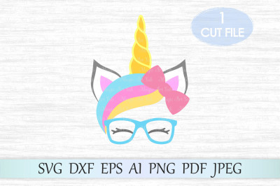 Unicorn svg, Unicorn head svg, Unicorn cut file