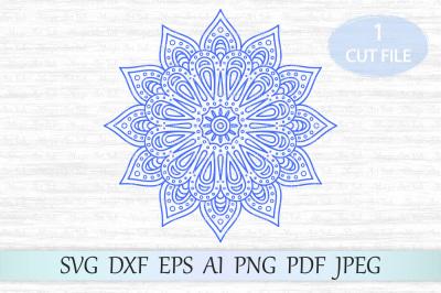 Mandala svg, Mandala cut file, Mandala clipart, Arabic mandala svg