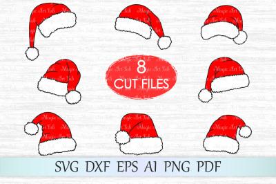 Santa hat svg, Christmas svg, Santa hat cut file, Christmas clipart