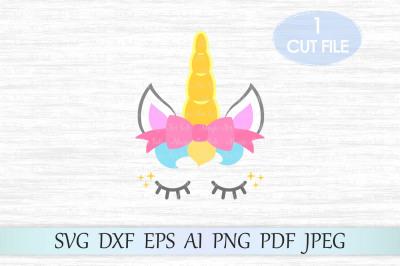Unicorn svg, Unicorn head svg, Unicorn cut file,Unicorn clipart