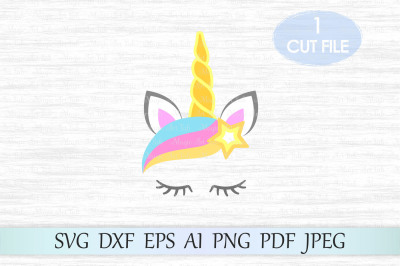 Unicorn svg, Unicorn head svg, Unicorn cut file, Unicorn clipart