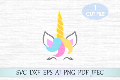 Unicorn svg, Unicorn head svg, Unicorn cut file, Unicorn clipart
