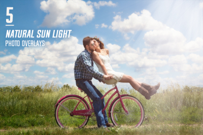 5 Natural Sun Light Photo Overlays