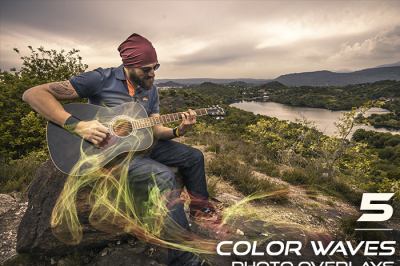 5 Color Waves Photo Overlays