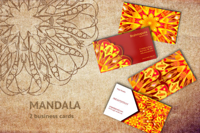 Mandala business card templates