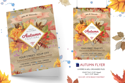 Autumn Festival (Fall) Flyer Template