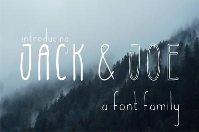 Jack and Joe font family