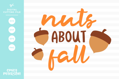 Nuts About Fall SVG DXF