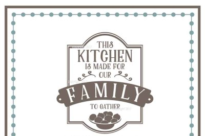 Kitchen SVG Cut File - Family Vector