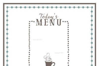 Menu SVG Cut File - Home Vector, Kitchen SVG