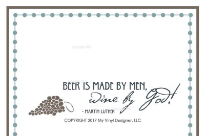 Beer Vs. Wine SVG Cut File - Drink SVG