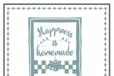 Happiness SVG Cut File - Home Vector