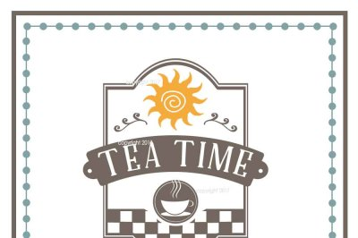 Tea Time SVG Cut File - Kitchen Vector