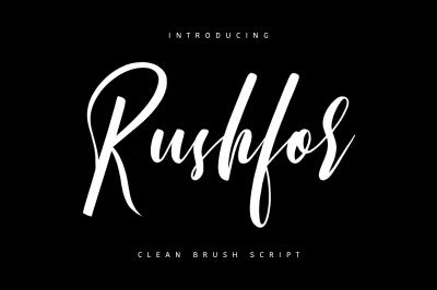 Rushfor - Clean Brush Script