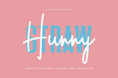 Hunny Straw Font Collection