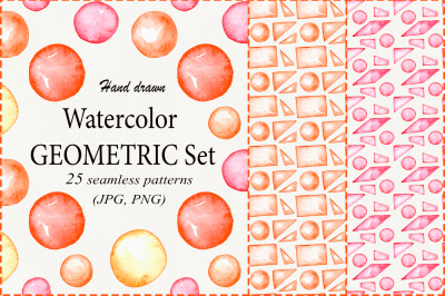 Watercolor Geomtric Patterns
