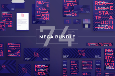Design templates bundle | flyer, banner, branding | Real Estate