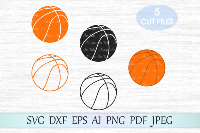 Basketball svg, Basketball silhouette, Basketball cut file