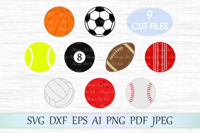 Sport SVG, Sport Balls Clipart, Sport Balls SVG