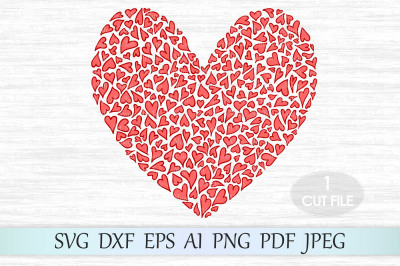 Heart svg file, Love svg, Valentine svg, Heart clipart