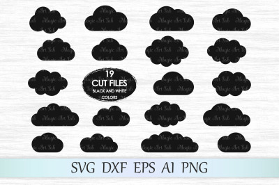 Clouds svg file, Cloud clipart, Cloud vector, Cloud bundle Svg