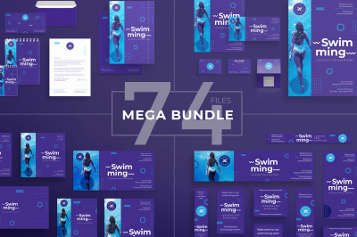 Design templates bundle | flyer, banner, branding | Swimming Pool