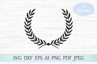 Laurel SVG, Laurel wreath SVG, Laurel monogram svg, Wreath svg