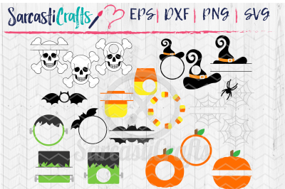 Halloween Monogram Bundle - Set of 21
