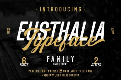 Eusthalia Typeface Family (6 Fonts)