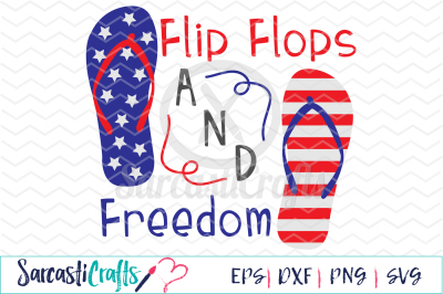 Flip Flops and Freedom - EPS SVG DXF PNG