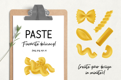 Collection of italian pasta