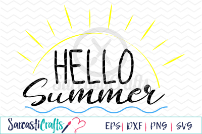 Hello Summer - EPS SVG DXF PNG