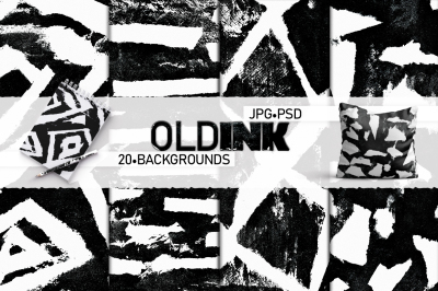 Old Ink. Abstract backgrounds.