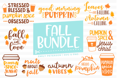 Fall Bundle SVG DXF - 10 Designs