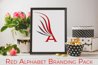 Red alphabet Branding Pack