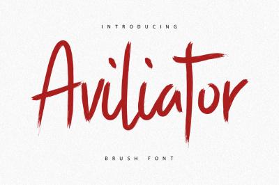 Aviliator Brush Font