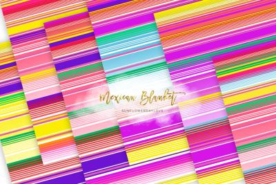 Mexican Blanket texture, Digital Serape Stripes