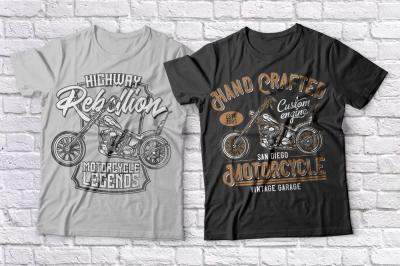 Motorcycle t-shirts set