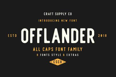Offlander - Font Family