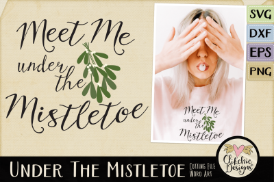 Under the Mistletoe Vector SVG Clipart