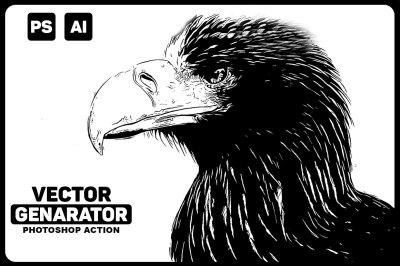 Vector Genarator Photoshop Action