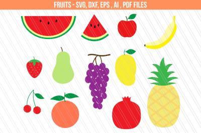 Fruits SVG/DXF cut Files, Fruits clipart-svg,dxf,eps,ai,pdf