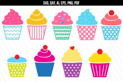 Cupcake SVG, Muffin svg, Bakery svg, Dessert