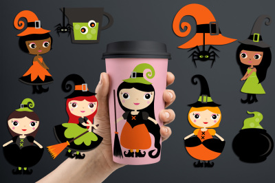 Witchcraft, Halloween witch graphics and illustrations